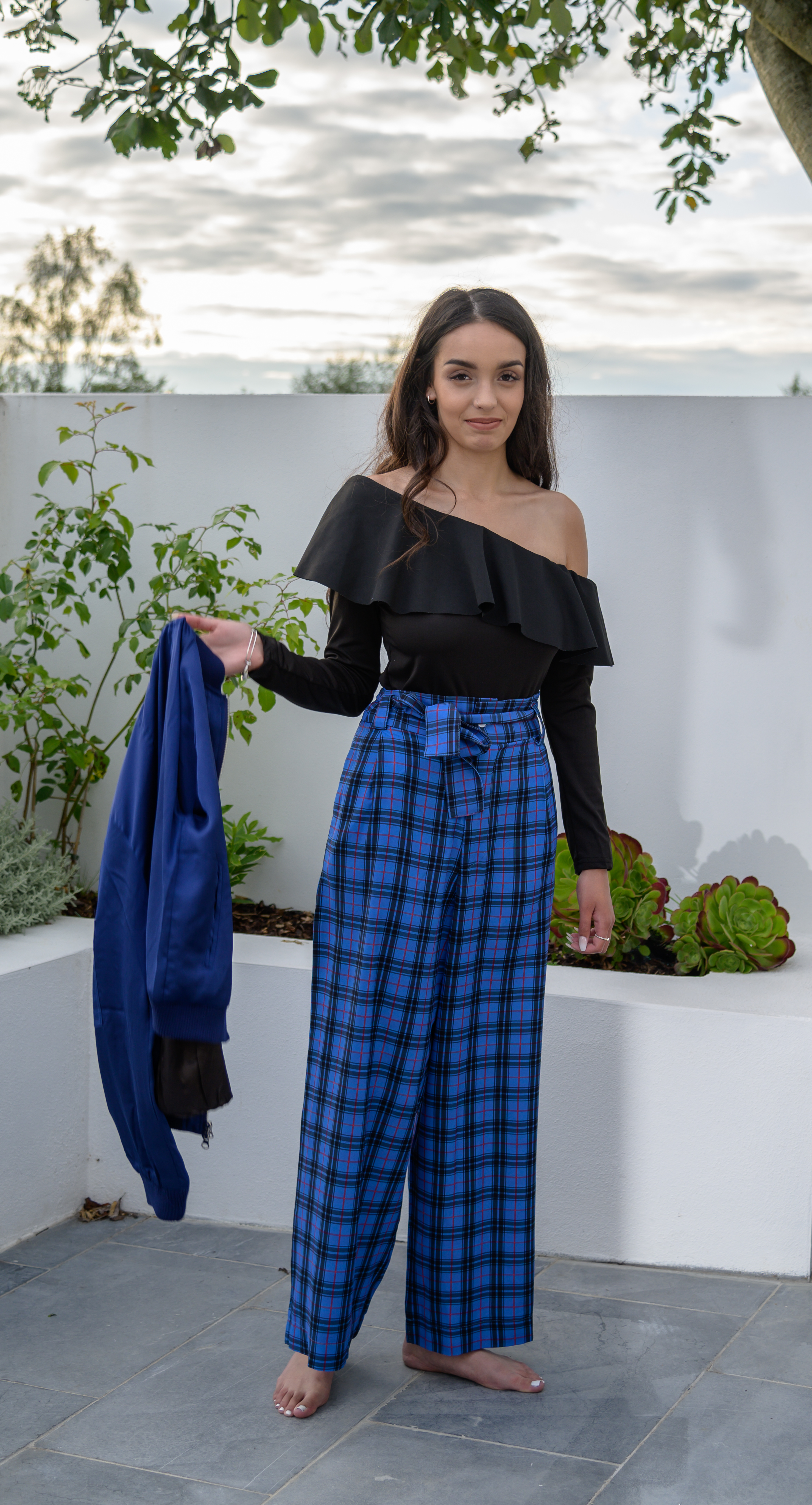 Blue Check Trousers 02
