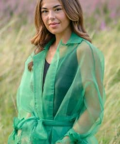 Green Organza Look Jacket 01