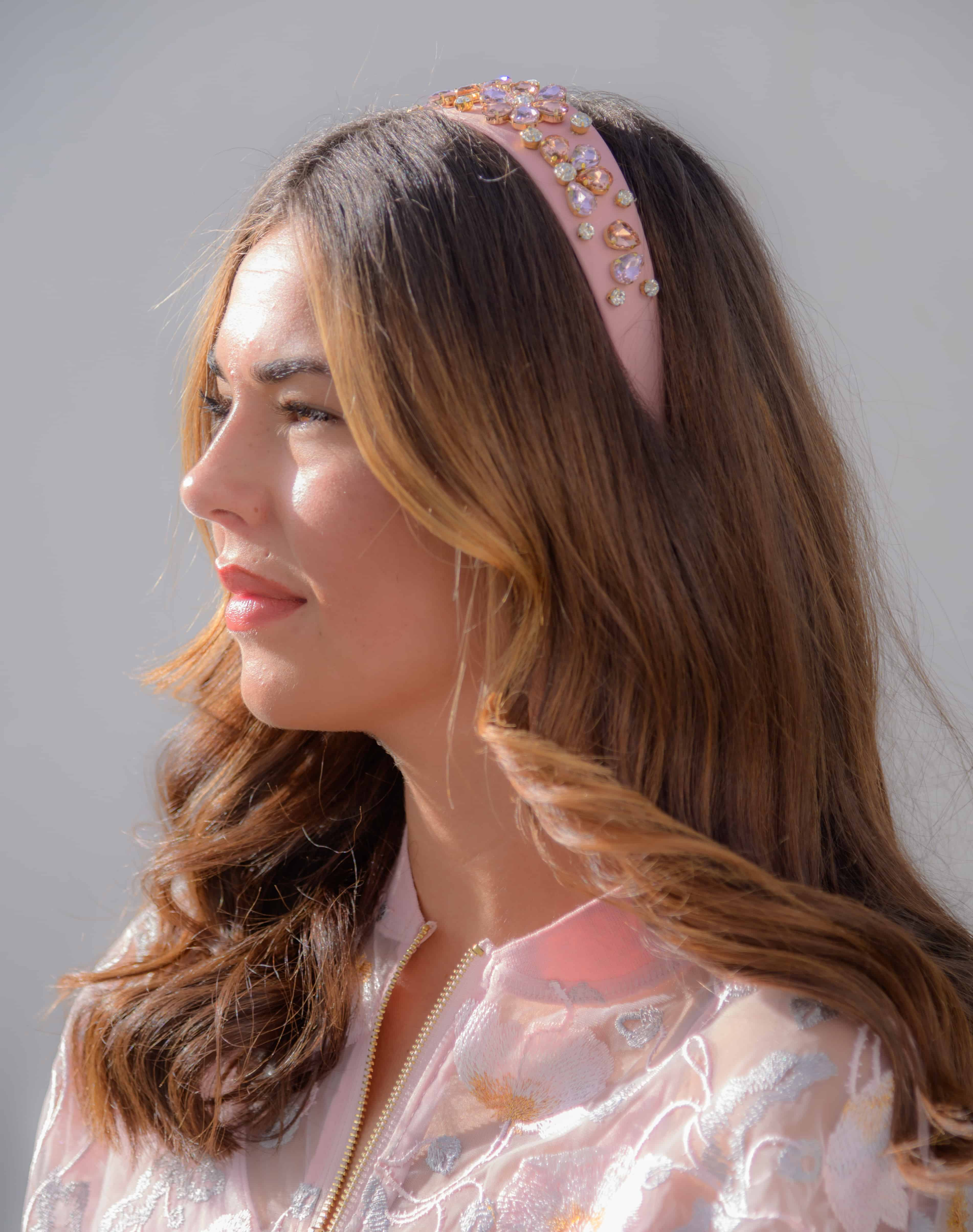Pink Headband with Embellishment 02