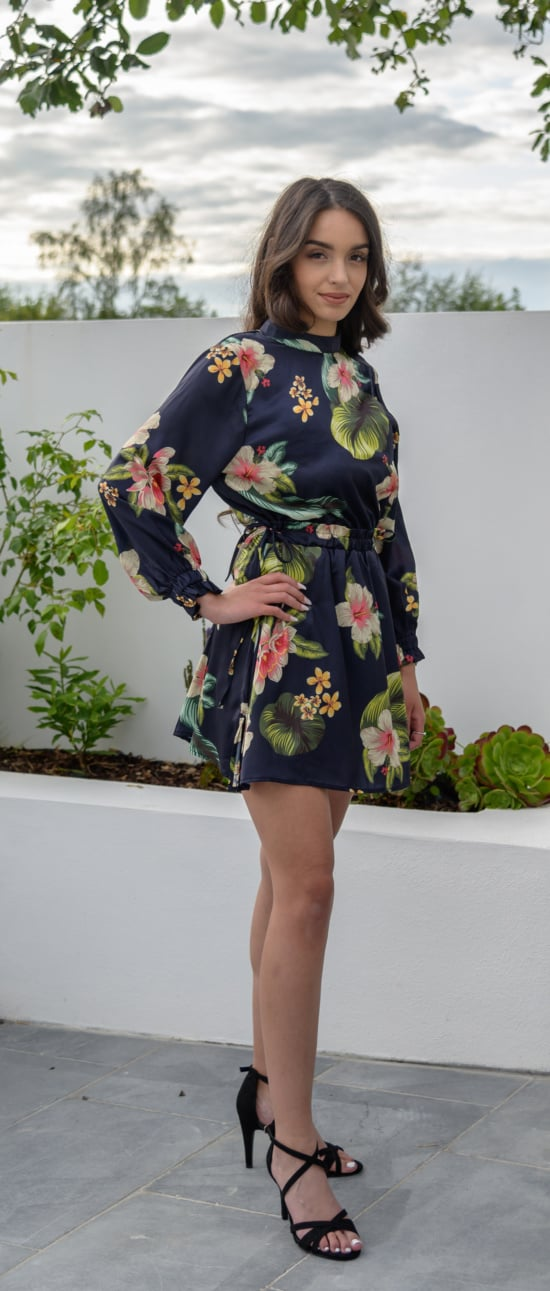 Tropical Long Sleeve Playsuit 02